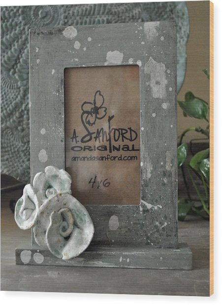 Sweet Sucrose Frame Wood Print by Amanda  Sanford