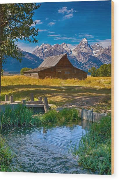 Sweet Teton Morning Wood Print