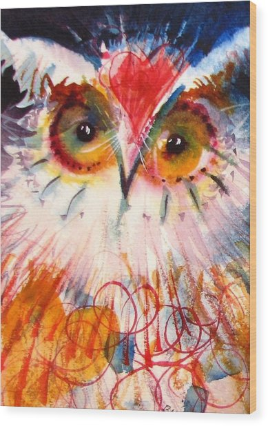 Sweetheart Hooter Wood Print