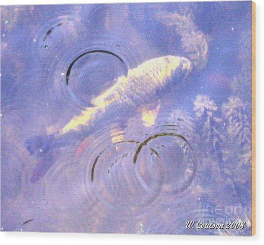 Swimming Koi Wood Print