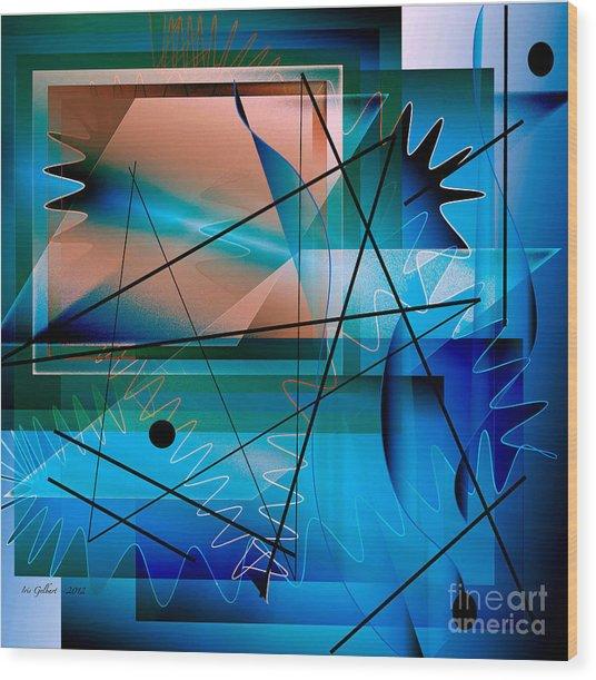 Swimming Towards The Light Wood Print