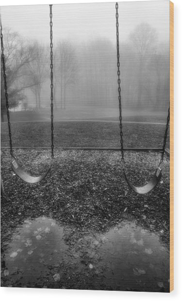 Swing Seats I Wood Print by Steven Ainsworth