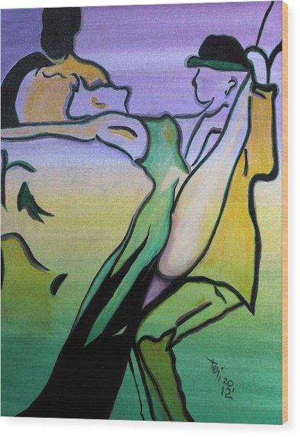 Swingin Wood Print by Teri Howard Stewart