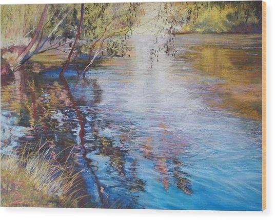 Swirls And Ripples - Goulburn River Wood Print by Lynda Robinson