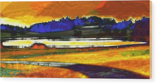 Swiss Countryside - Around The Luetzelsee Wood Print