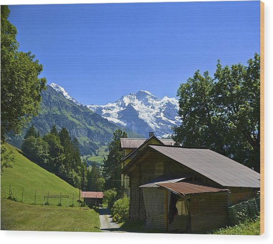 Swiss Hike Wood Print