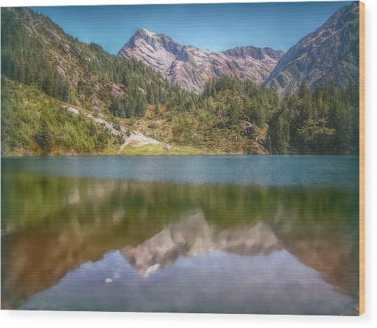 Swiss Tarn Wood Print