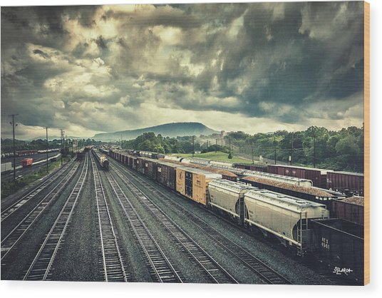 Switchyard Junction Near Lookout Mountain Wood Print