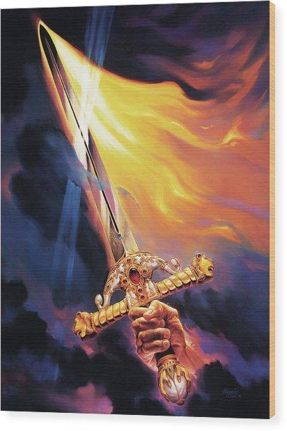 Sword Of The Spirit Wood Print by Jeff Haynie