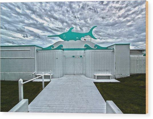 Swordfish Beach Club I Wood Print