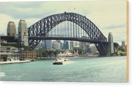 Sydney Bridge Wood Print by John Potts