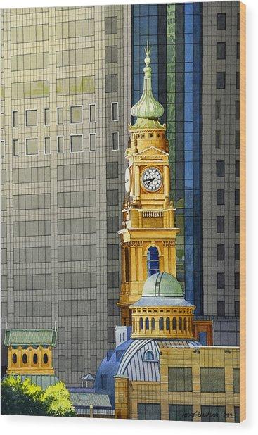 Sydney Clock Tower Wood Print
