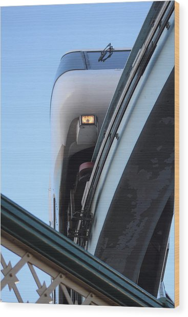 Wood Print featuring the photograph Sydney Mono Rail  by Debbie Cundy