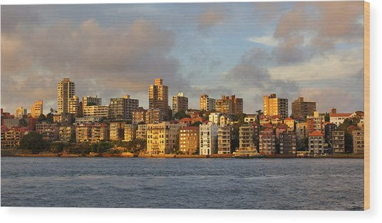 Sydney Town Houses Wood Print by DerekTXFactor Creative