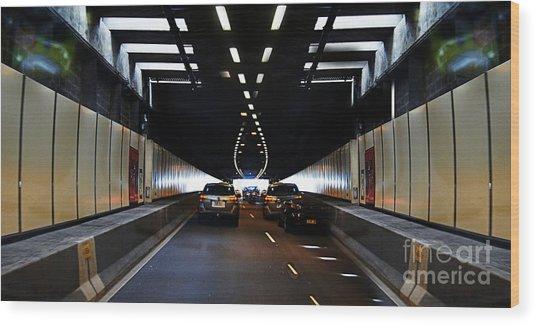 Sydney Tunnel Wood Print
