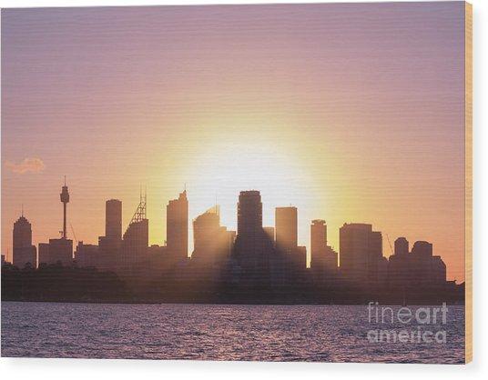 Sydney's Evening Wood Print