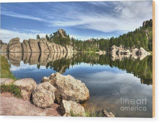 Sylvan Lake Reflections 2 Wood Print