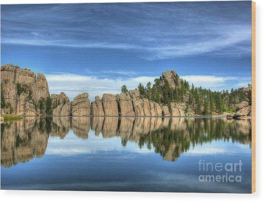 Sylvan Lake Reflections Wood Print