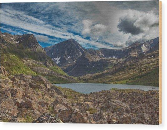Symphony Lake Wood Print