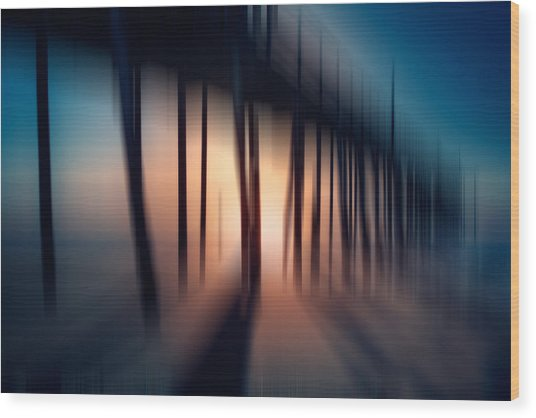 Symphony Of Shadow - A Tranquil Moments Landscape Wood Print