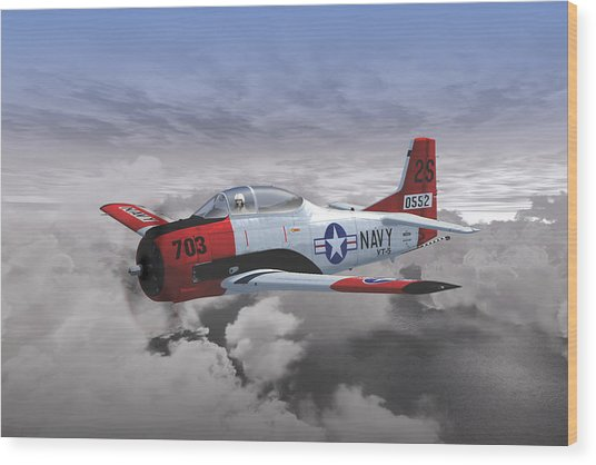 T-28c Vt-5 Wood Print
