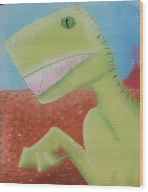 Dinoart Reptillian  Wood Print