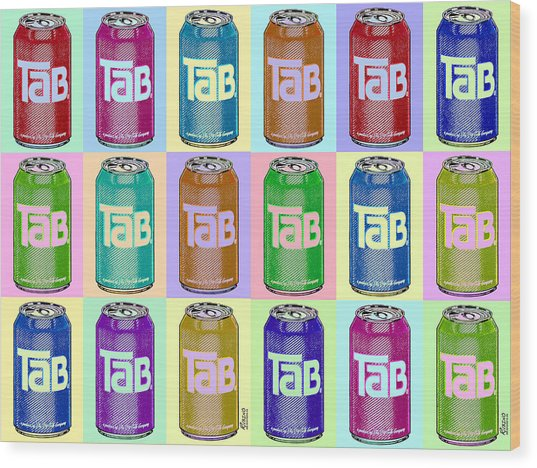 Tab Ode To Andy Warhol Repeat Horizontal Wood Print