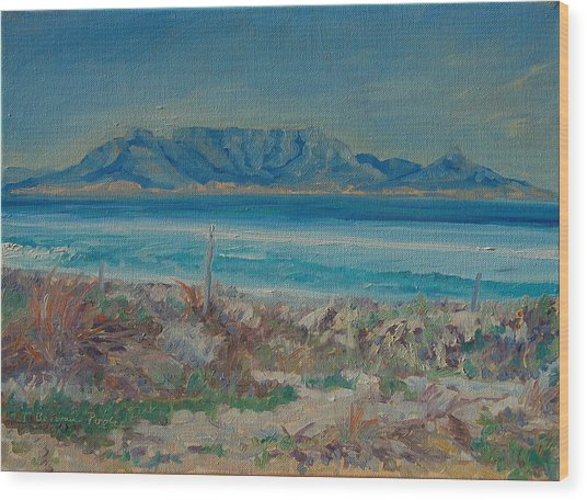 Table Mountain Cape Town Wood Print