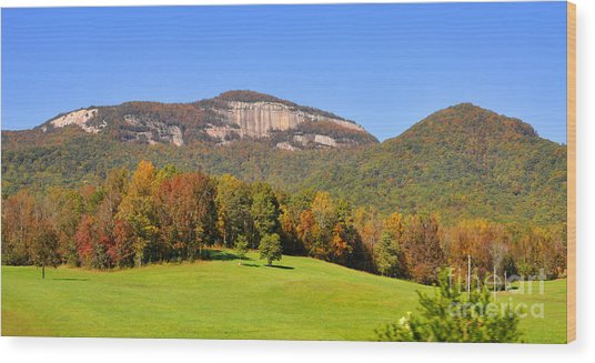 Table Rock In Autumn Wood Print