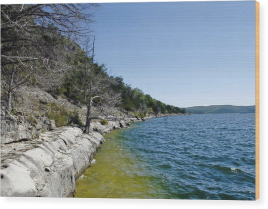 Table Rock Lake Shoreline Wood Print