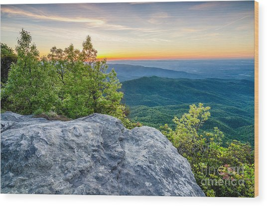 Table Rock Predawn Wood Print