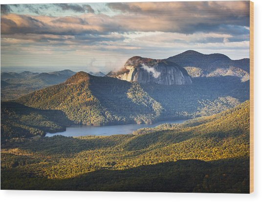 Table Rock Sunrise - Caesars Head State Park Landscape Wood Print