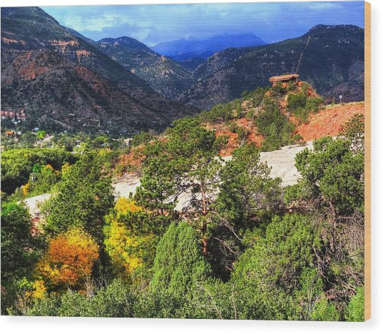 Table Rock To Pike's Peak Wood Print