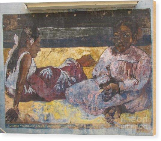 Taboga History Painting Wood Print