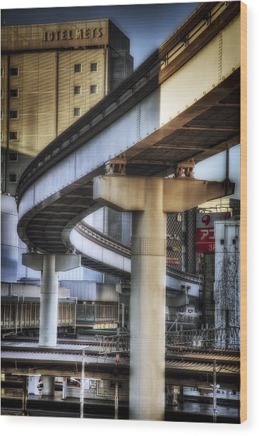 Tachikawa Monorail I Wood Print by Rscpics