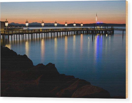 Tacoma Sunset Wood Print