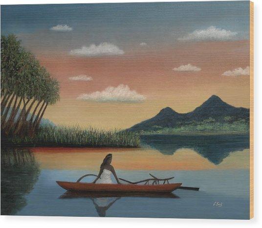 Tahitian Morning Wood Print