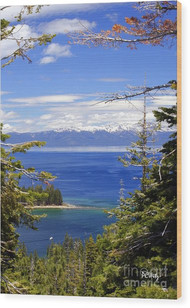 Tahoe Blue Wood Print