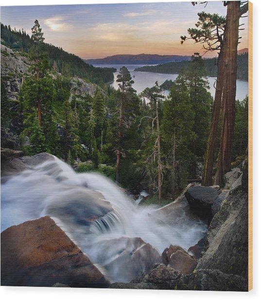 Tahoe Eagle Falls Sunrise 2 Wood Print
