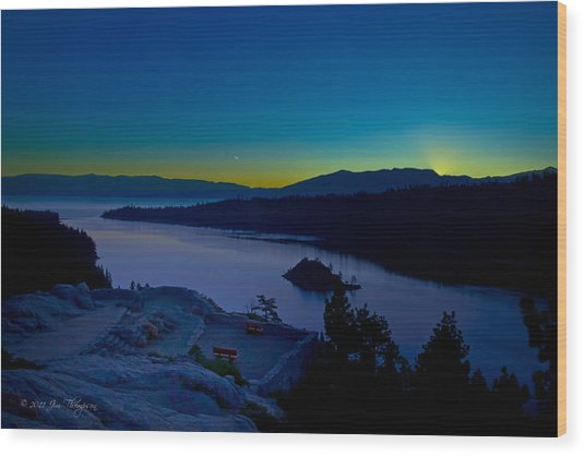 Wood Print featuring the photograph Tahoe Sunrise by Jim Thompson