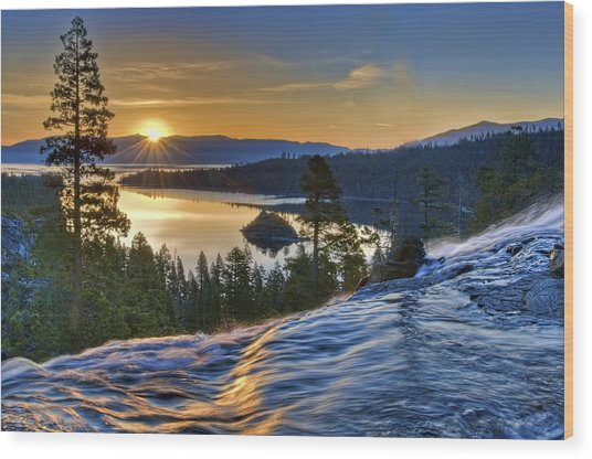 Tahoe Sunrise Wood Print