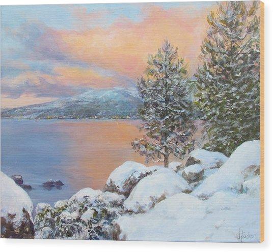 Tahoe Winter Colors Wood Print