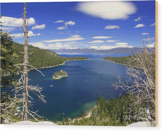 Tahoe's Emerald Bay Wood Print