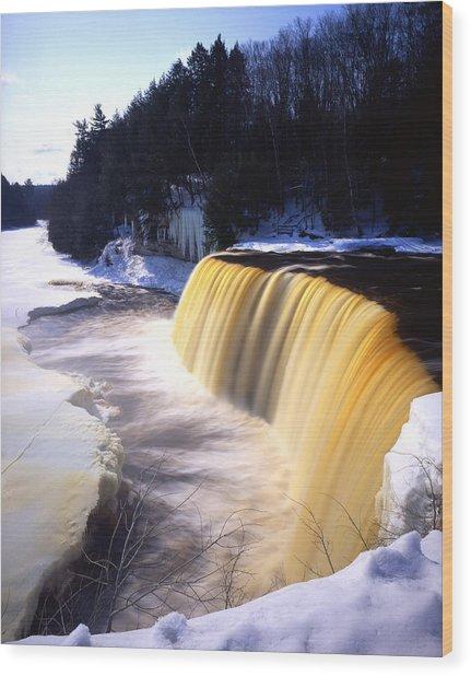 Tahquamenon Falls Wood Print