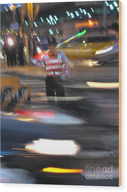 Taipei Traffic Wood Print