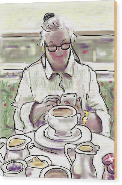 Taj Breakfast Wood Print