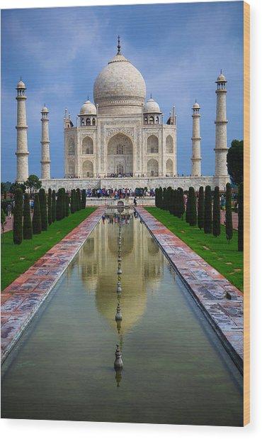 Taj Mahal - India Wood Print