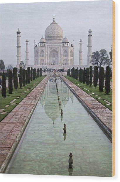 Taj Mahal Early Morning Wood Print