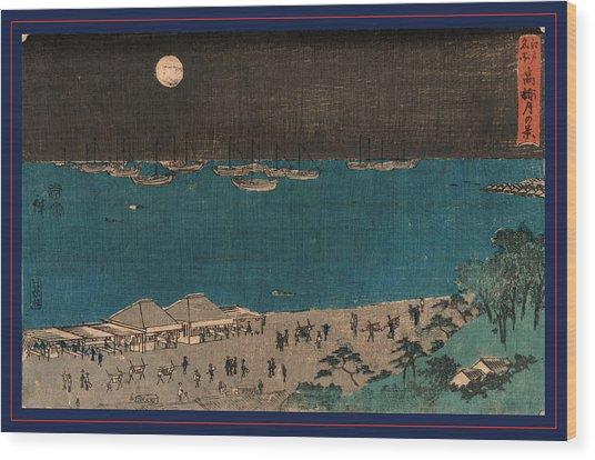 Takanawa Tsuki No Kei Wood Print