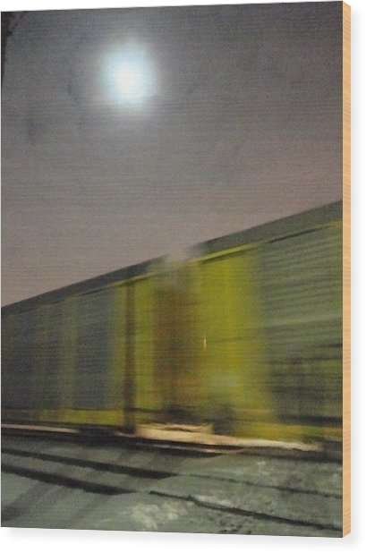 Take A Fast Train Wood Print by Guy Ricketts